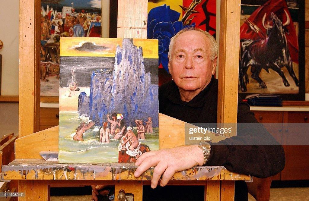 Künstler Maler Berlin walter womacka bildender künstler maler d pictures getty images
