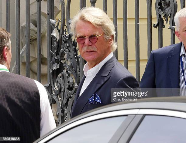 Bilderberg conference participant Bjorn Wahlroos sighted departing outside Hotel Taschenbergpalais on June 12 2016 in Dresden Germany Dresden is...