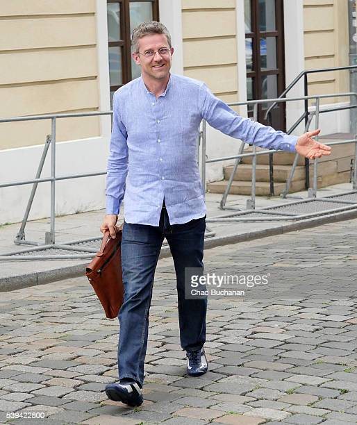 Bilderberg conference participant Carlo Ratti sighted walking outside the Hotel Taschenbergpalais on Saturday afternoon June 11 2016 in Dresden...