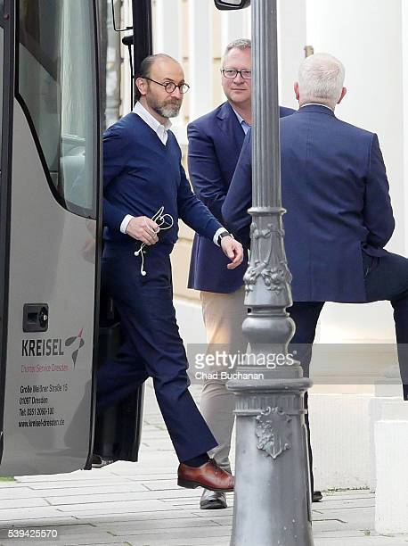 Bilderberg conference participant Carlos Gomes da Silva sighted departing a tourbus outside the Hotel Taschenbergpalais on Saturday afternoon June 11...