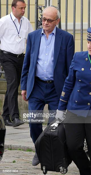 Bilderberg conference participant John Kerr sighted departing outside Hotel Taschenbergpalais on June 12 2016 in Dresden Germany Dresden is hosting...