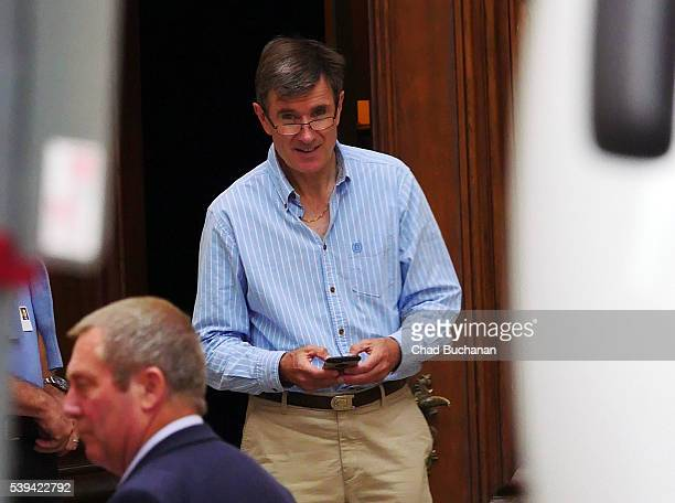Bilderberg conference participant John Sawers sighted walking outside the Hotel Taschenbergpalais on Saturday afternoon June 11 2016 in Dresden...