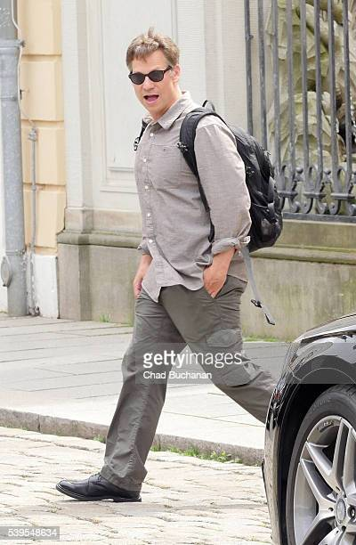 Bilderberg conference participant Richard Engel sighted departing outside Hotel Taschenbergpalais on June 12 2016 in Dresden Germany Dresden is...