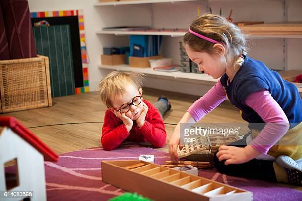 Bilingual Montessori school in HauteSavoie France which caters to children 2 to 6 years old kids are all in the same class to encourage socialisation...