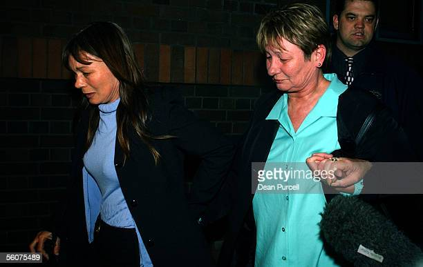 Bill Absolum's sisters Caroline and Faye walk out of the Auckland High Court after William Bell 24 was found guilty of murder and Darnell Tupe 24...