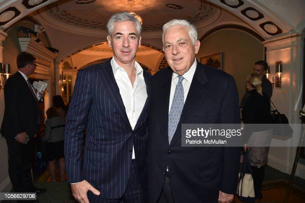 Bill Ackman and Lawrence Ackman attend Alzheimer's Drug Discovery Foundation's Ninth Annual Fall Symposium + Luncheon at the Pierre Hotel on November...