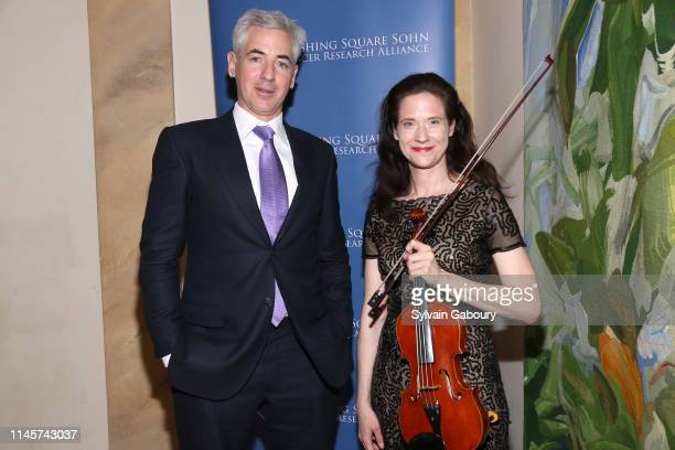 Bill Ackman and Stephanie Oestreich attend 2019 Pershing Square Sohn Prize Dinner at Consulate General of France on May 22, 2019 in New York City.