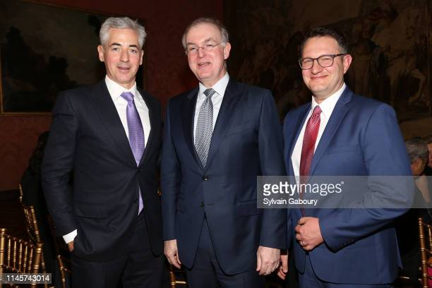 Bill Ackman, Bill Doyle and Yaron David attend 2019 Pershing Square Sohn Prize Dinner at Consulate General of France on May 22, 2019 in New York City.