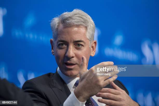 Bill Ackman chief executive officer of Pershing Square Capital Management LP speaks at the Skybridge Alternatives conference in Las Vegas Nevada US...