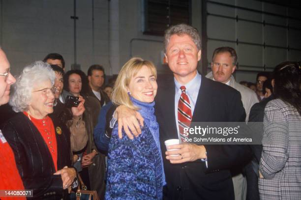 Bill and Hillary Clinton at a St Louis campaign rally in 1992 Bill Clinton's final day of campaigning in St Louis Missouri