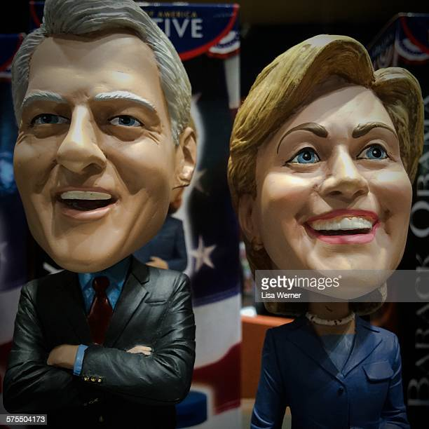 Bill and Hillary Clinton Bobblehead dolls in Washington D C USA