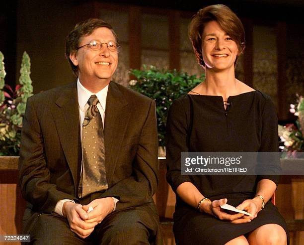 Bill and Melinda Gates, announce the inaugural class of Gates Millennium Scholars at a press conference June 8, 2000 in Seattle, DC. The Gates...