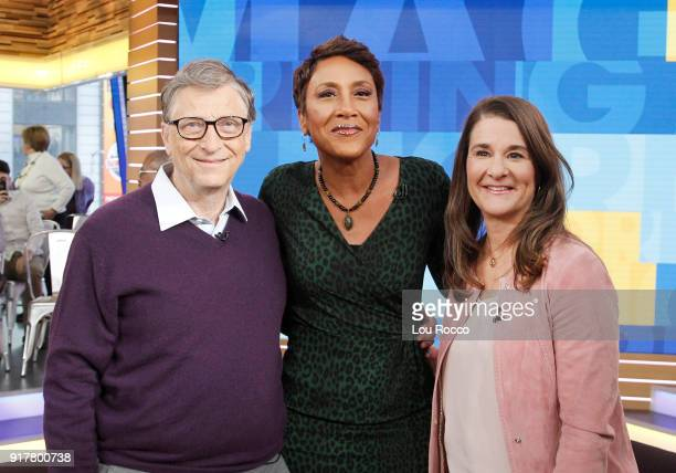 AMERICA Bill and Melinda Gates are guests on Good Morning America Tuesday February 13 airing on the Walt Disney Television via Getty Images...