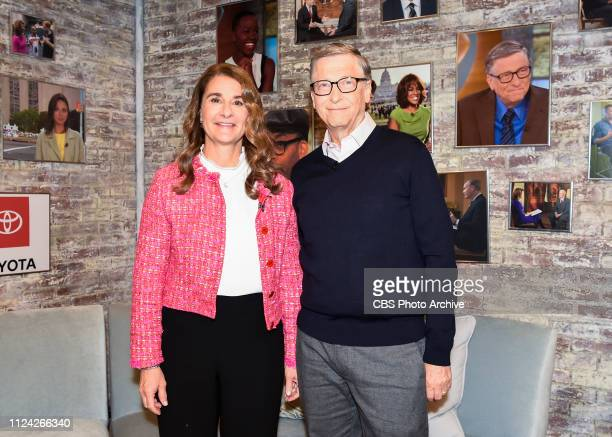 Bill and Melinda Gates in the CBS Toyota Greenroom before their appearance on CBS THIS MORNING Feb 12 2019