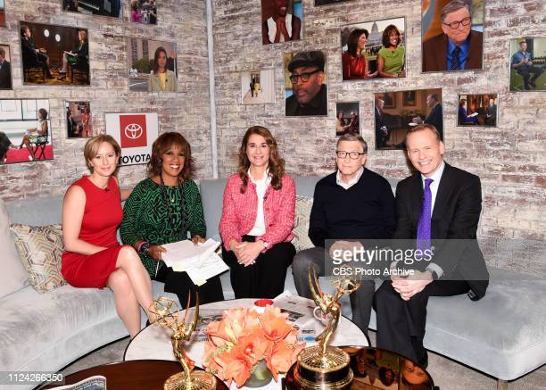 Bill and Melinda Gates in the CBS Toyota Greenroom with Psychologist/CBS News Contributor Lisa Damour and CoHosts Gayle King and John Dickerson...