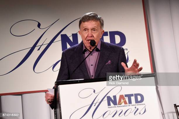 Bill Anderson speak onstage during the 2017 NATD Honors Gala at Hermitage Hotel on November 14 2017 in Nashville Tennessee