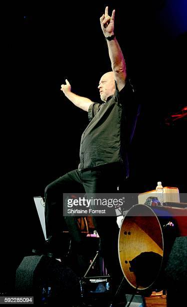 Bill Bailey performs in the comedy tent at V Festival at Weston Park on August 20 2016 in Stafford England