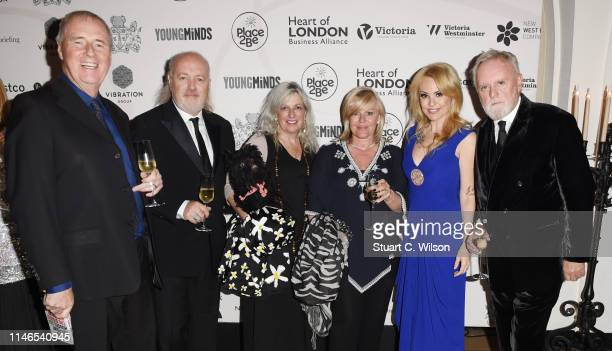 Bill Bailey Roger Taylor Sarina Potgieter and guests attend The Lord Mayor of Westminster's 'Under the Painted Sky' Gala at Banqueting House on May...
