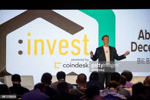 Bill Barhydt founder and chief executive officer of Abra speaks during the Consensus Invest event in New York US on Tuesday Nov 28 2017 Consensus...