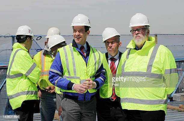 Bill Baroni center Deputy Executive Director of the Port Authority of New York and New Jersey Scott Rechler second from right Vice Chairman of the...