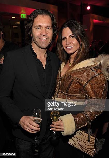 Bill Beasley and Diana Roque Ellis attend the grand opening party for Delphine restaurant at W Hollywood Hotel Residences on February 11 2010 in...
