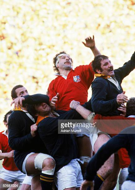Bill Beaumont Captain of the Lions in action during the test series between South Africa and the British and Irish Lions in South Africa in 1980
