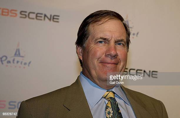 Bill Belichick Head Coach of the New England Patriots attends the grand opening of the CBS Scene Restaurant Bar on September 6 2008 in Boston