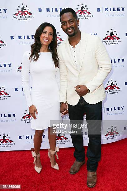 Bill Bellamy and Kristen Baker Bellamy arrive at the 7th Annual Big Fighters Big Cause Charity Boxing Night Benefiting The Sugar Ray Leonard...
