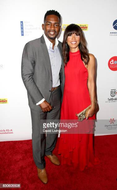 Bill Bellamy and Kristen Baker Bellamy at the 17th Annual Harold Carole Pump Foundation Gala at The Beverly Hilton Hotel on August 11 2017 in Beverly...