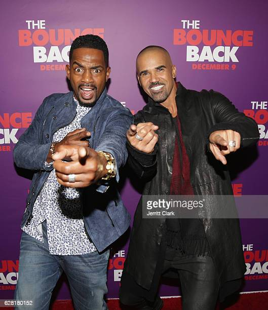 """Bill Bellamy and Shemar Moore attend the Premiere Of Viva Pictures' """"The Bounce Back"""" at TCL Chinese Theatre on December 6, 2016 in Hollywood,..."""