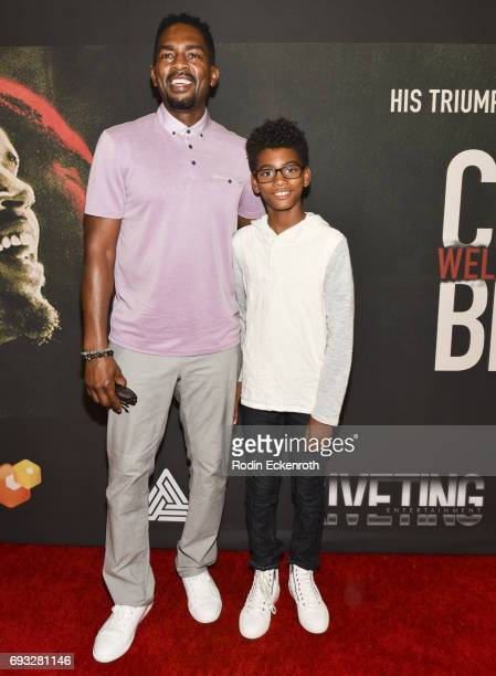 Bill Bellamy and son Baron Bellamy attend the premiere of Chris Brown Welcome to My Life at Regal LA Live Stadium 14 on June 6 2017 in Los Angeles...