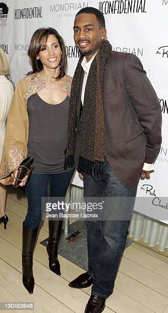 Bill Bellamy and Wife during Los Angeles Confidential Magazine in Association with Morgans Hotel Group Celebrates the 2007 Oscars with Forest...