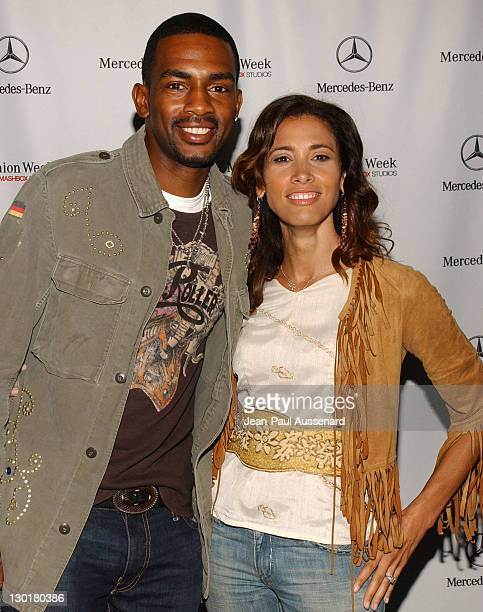 Bill Bellamy and wife Kristen Baker during MercedesBenz Spring 2006 LA Fashion Week at Smashbox Studios Day 3 Arrivals at Smashbox Studios in Culver...