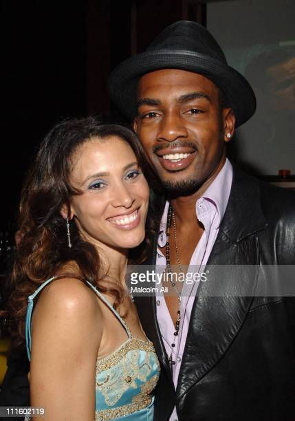 Bill Bellamy and wife Kristen Bellamy during Bill Bellamy Surprise 40th Birthday Party at Monroe's in West Hollywood California United States