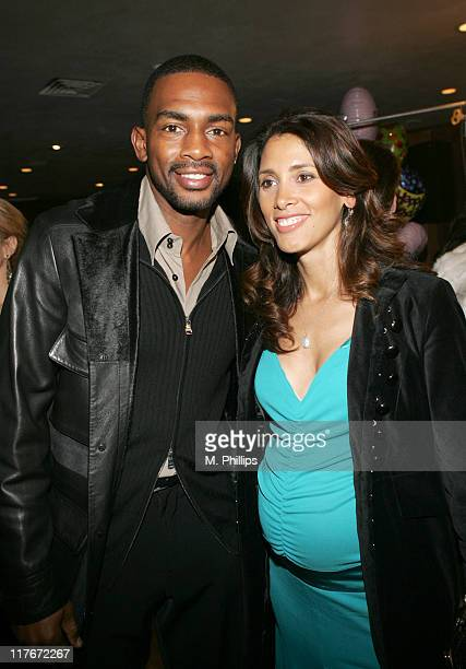 Bill Bellamy and wife Kristin during Jim Brown Suprise Birthday Party February 15 2006 at Crustacean in Beverly Hills California United States