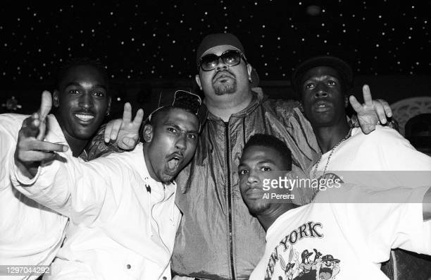 """Bill Bellamy, Charlie Brown; Heavy D, Son Of Bazerk and Grandmaster Flash attend an album-release party for A Tribe Called Quest's """"The Low End..."""