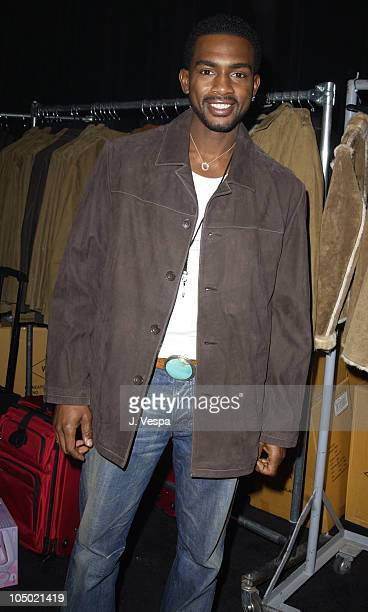 Bill Bellamy in Wilson's Leather coat during 2002 Billboard Music Awards Backstage Creations Talent Retreat Show Day at MGM Grand Hotel in Las Vegas...