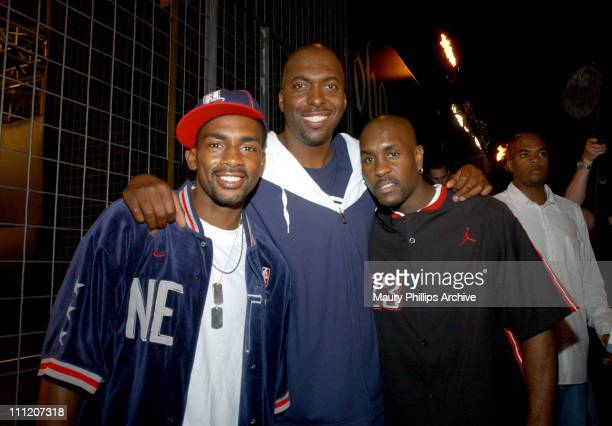 Bill Bellamy John Salley and Gary Payton during Nike Presents LA Battlegrounds 2003 at Private Residence in Westwood California United States