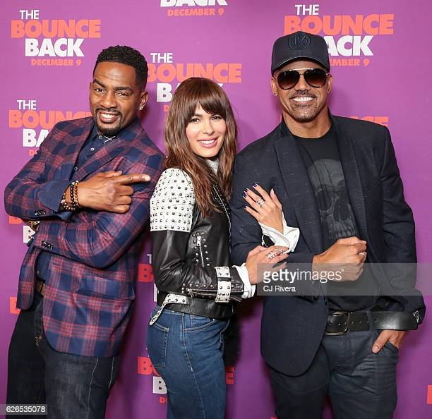 """Bill Bellamy , Nadine Velazquez, and Shemar Moore attend """"The Bounce Back"""" New York screening at AMC Loews 34th Street 14 theater on November 29,..."""