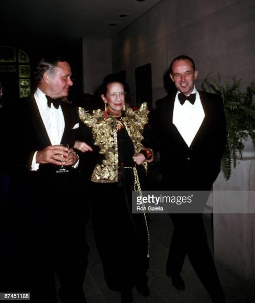 Bill Blass Diana Vreeland and Guest