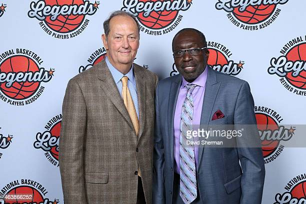 Bill Bradley and Earl Monroe attend the 16th Annual NBA Legends Brunch during 2015 NBA AllStar Weekend on February 15 2015 at the Jacob Javits...
