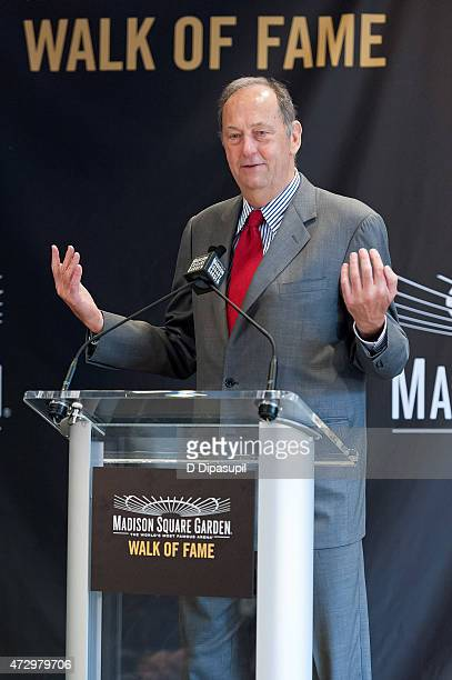 Bill Bradley speaks onstage during the Madison Square Garden 2015 Walk Of Fame Inductions at Madison Square Garden on May 11 2015 in New York City