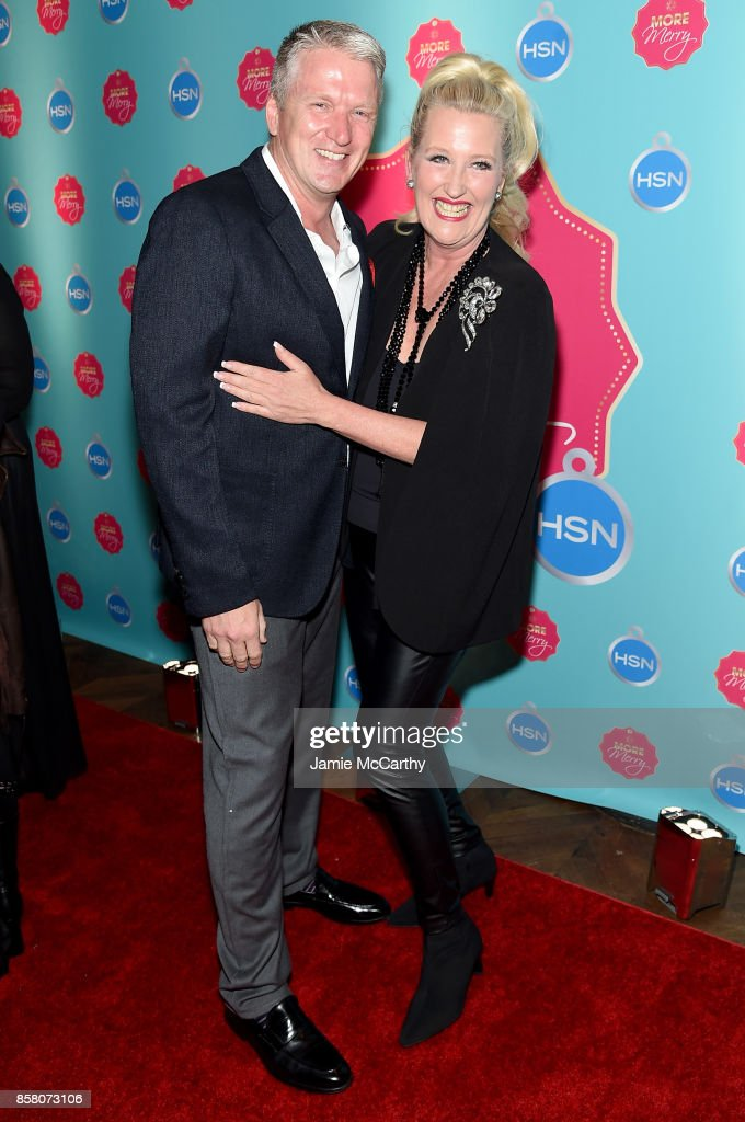 Bill Brand and Heidi Daus attend the HSN 2017 Holiday Cocktail Party at KOLA House on October 5, 2017 in New York City.