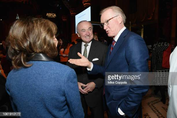 Bill Bratton and Chuck Scarborough attend the ASPCA Hosts 2018 Humane Awards Luncheon at Cipriani 42nd Street on November 15 2018 in New York City