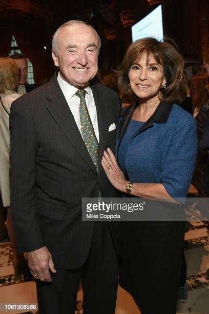 Bill Bratton and Rikki Klieman attend the ASPCA Hosts 2018 Humane Awards Luncheon at Cipriani 42nd Street on November 15 2018 in New York City