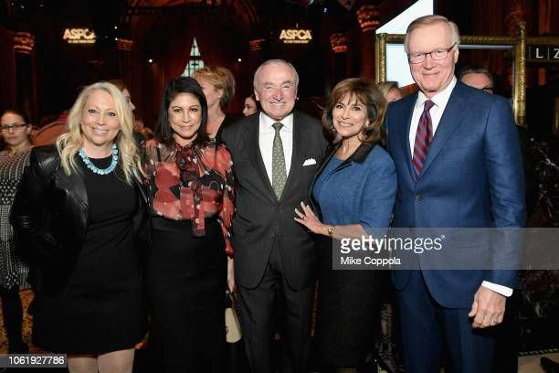 Bill Bratton Rikki Klieman Chuck Scarborough and guests attend the ASPCA Hosts 2018 Humane Awards Luncheon at Cipriani 42nd Street on November 15...