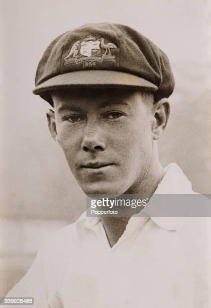 Bill Brown of Australia during their Ashes cricket tour of England circa May 1934
