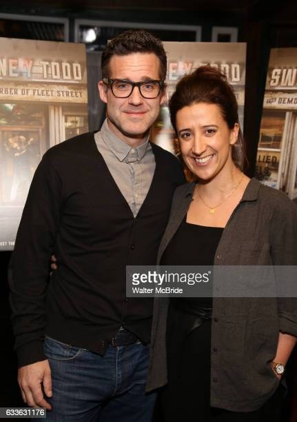 Bill Buckhurst and Rachel Edwards attend a press reception for the cast of The Tooting Arts Club production of Sweeney Todd'' at AOC L'aile ou la...