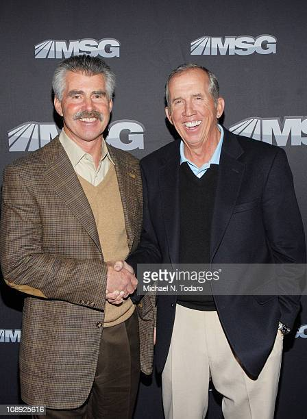 Bill Buckner and Davey Johnson attend the premiere of 'The Summer of 86 The Rise and Fall of the World Champion Mets' at MSG Studios on February 8...