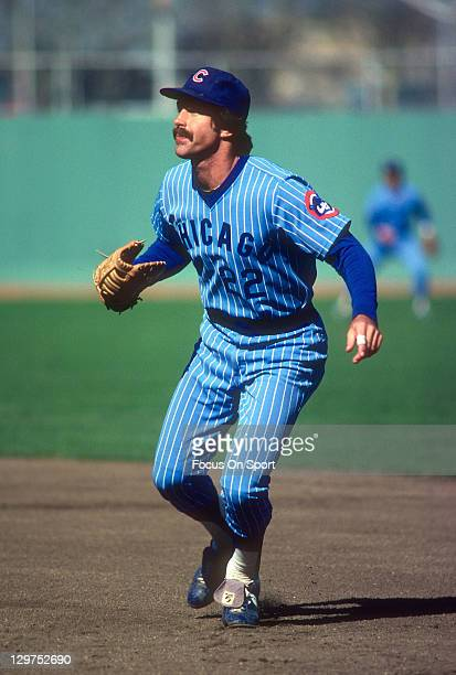 Bill Buckner of the Chicago Cubs in action against the New York Mets during an Major League Baseball game circa 1981 at Shea Stadium in the Queens...